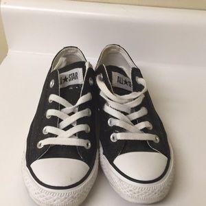 466251e6dda4 Converse Shoes - Black glitter converse size 6